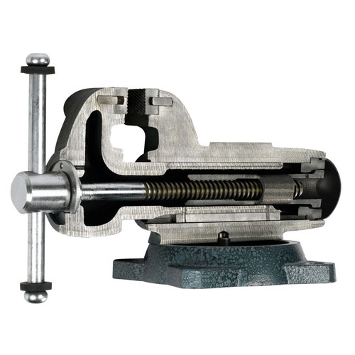 Wilton 10036 800S, Machinists' Bench Vise - Swivel Base, 8 in. Jaw Width, 12 in. Jaw Opening, 5-13/16 in. Throat Depth image number 3