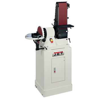 JET 708597K 6 in. x 48 in. Belt / 9 in. Disc Combination Sander with Closed Stand