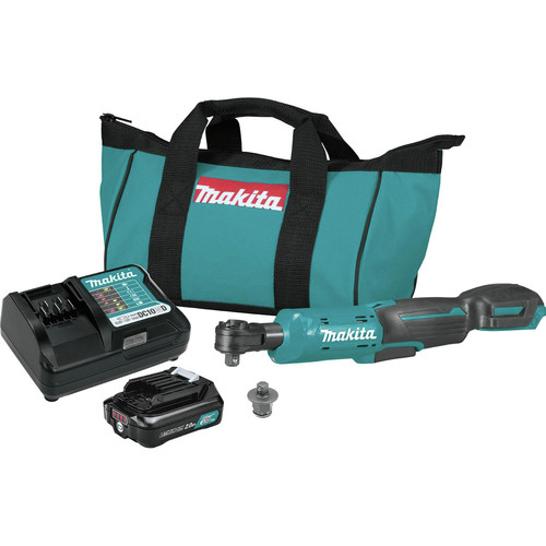 Makita RW01R1 12V max CXT Lithium-Ion Cordless 3/8 in. / 1/4 in. Square Drive Ratchet Kit (2 Ah) image number 0