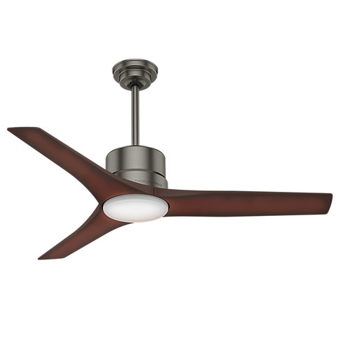 Casablanca 59195 Piston 52 in. Brushed Slate Indoor/Outdoor Ceiling Fan with Light and Remote