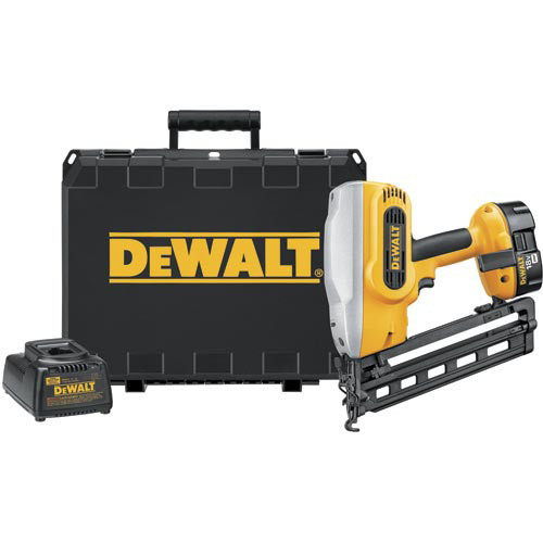 Factory Reconditioned Dewalt DC618KR 18V XRP Cordless 16-Gauge 1-1/4 in. - 2-1/2 in. Angled Finish Nailer Kit