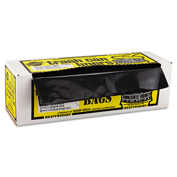 Warp's HB33-60 33 Gallon Heavyweight Contractor Bags (Black) (60-Pack) image number 1
