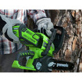 Greenworks 2000219 2000219 40V/12 in. Cordless Chainsaw with 2 Ah Battery and Charger image number 1
