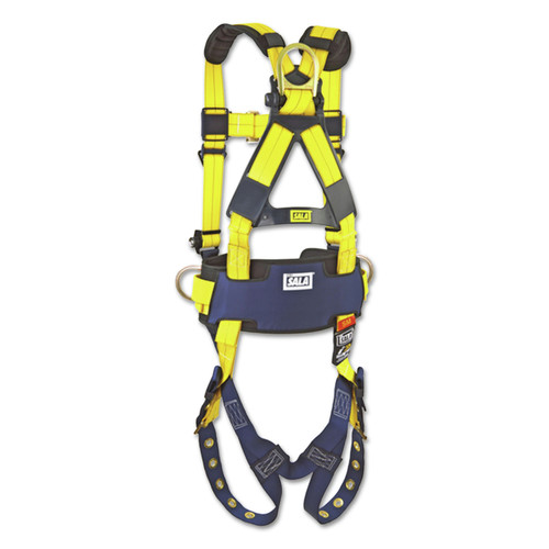 DBI-Sala 1101656 Full-Body Harness, Tongue Buckles, Side/Back D-Rings, X-Large, 420lb Capacity image number 0