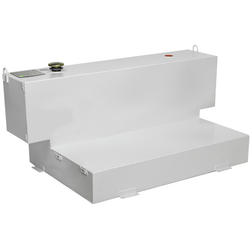 JOBOX 498000 98 Gallon Short-Bed L-Shaped Steel Liquid Transfer Tank - White image number 0