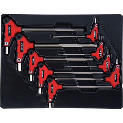 Sunex 9859 9 Pc. T Handle SAE Hex Key Set