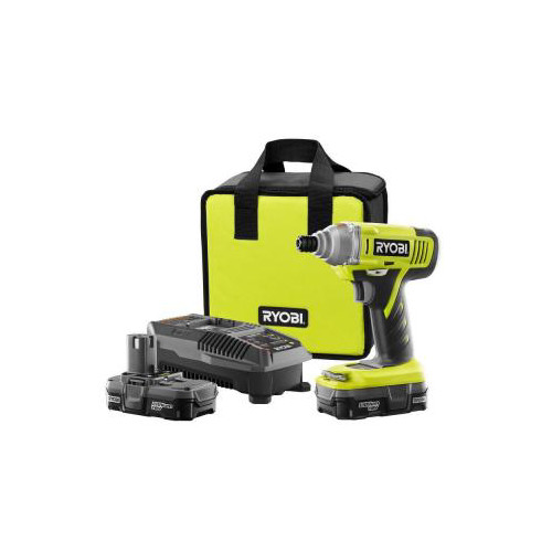 Factory Reconditioned Ryobi ZRP881 ONE Plus 18V Cordless Lithium-Ion Impact Driver Kit