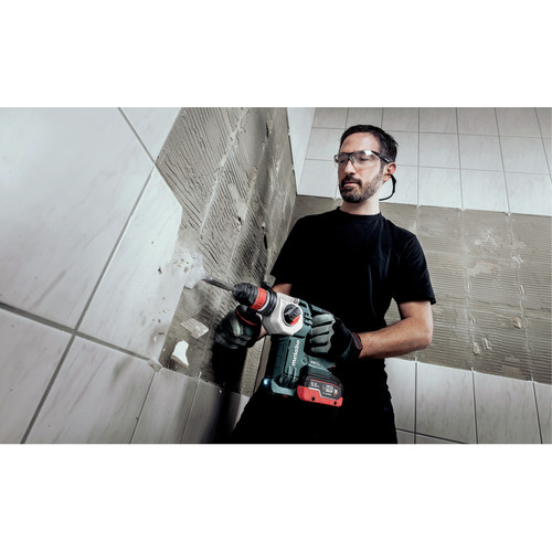 Metabo 600211950 KHA 18 LTX BL 24 Quick 18V 1 in. SDS-Plus Brushless Lithium-Ion Rotary Hammer with HEPA Vacuum Attachment & Batteries image number 2