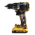 Dewalt DCD791D2 20V MAX XR Lithium-Ion Brushless Compact 1/2 in. Cordless Drill Driver Kit (2 Ah) image number 3