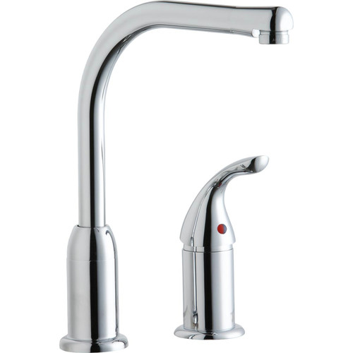 Elkay LK3000CR Everyday Kitchen Deck Mount Faucet with Remote Lever Handle (Chrome)