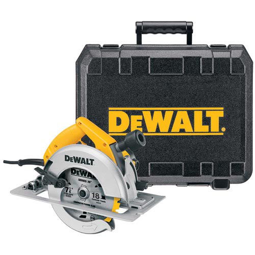 Factory Reconditioned Dewalt DW364KR 7-1/4 in. Circular Saw Kit with Rear Pivot Depth & Electric Brake