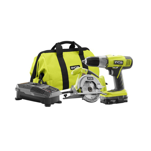 Factory Reconditioned Ryobi ZRP825 ONE Plus 18V Cordless Lithium-Ion 2-Tool Starter Combo Kit