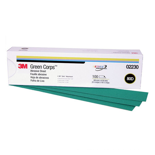 3M 2230 Green Corps Stikit Production Sheet 2-3/4 in. x 16-1/2 in. 80D (100-Pack)