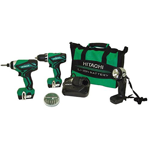Factory Reconditioned Hitachi KC10DFL2 12V Peak Cordless Lithium-Ion 3-Tool Combo Kit