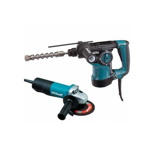 Makita HR2811FX 1-1/8 in. 3-Mode SDS-Plus Rotary Hammer with FREE 4-1/2 in. Angle Grinder