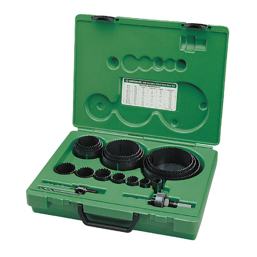 Greenlee 890 19-Piece Industrial Maintenance Bi-Metal Hole Saw Kit for 3/4 in. to 4-3/4 in. Conduit