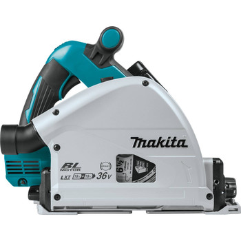Factory Reconditioned Makita XPS01PTJ-R 18V X2 5.0 Ah Cordless Lithium-Ion Brushless 6-1/2 in. Plunge Circular Saw Kit image number 2