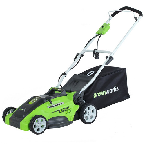 Greenworks 25142 10 Amp 16 in. 2-in-1 Electric Lawn Mower