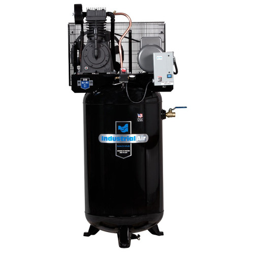 Industrial Air IV5018055 5 HP 230V 80 Gallon Baldor Industrial Vertical Stationary Air Compressor image number 0