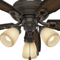 Hunter 52233 44 in. Ambrose Onyx Bengal Indoor Ceiling Fan image number 5