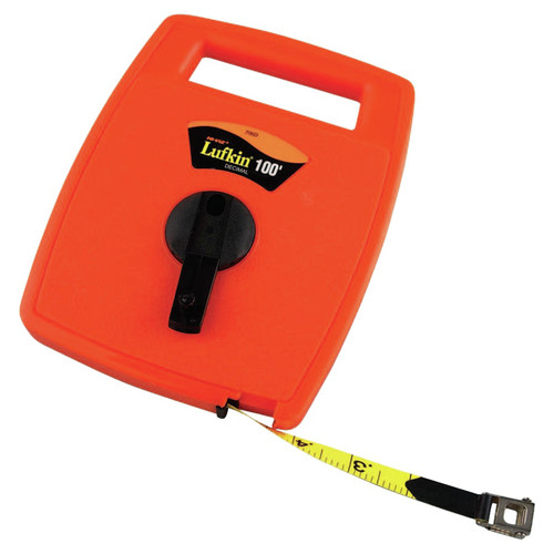 Lufkin 706D Hi-Viz 1/2 in. x 100 ft. 1/10 in. Graduation Linear Measuring Tape image number 0