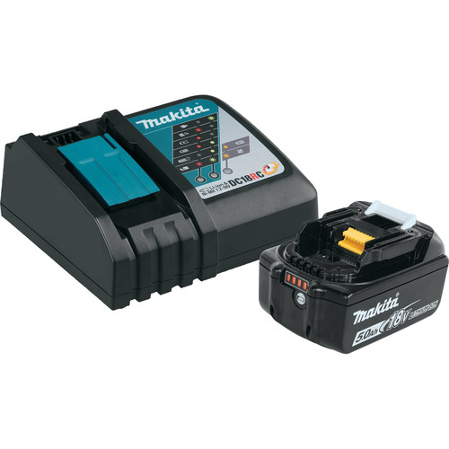 Makita BL1850BDC1 18V LXT 5 Ah Lithium-Ion Compact Battery and Rapid Charger Kit image number 0