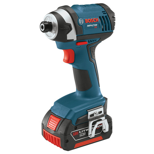 Bosch IDS181-01 18V Compact Tough 1/4 in. Hex Impact Driver with 2 HC FatPack Lithium-Ion Batteries