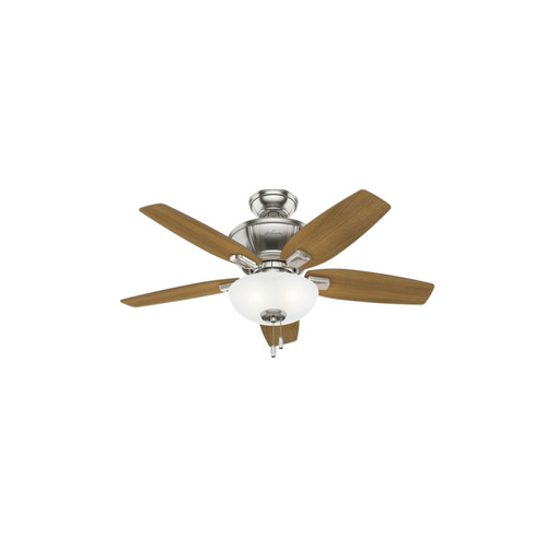 Hunter 51102 42 in. Kenbridge Brushed Nickel Ceiling Fan with Light