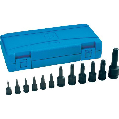 Grey Pneumatic 1234T 12-Piece Assorted Drive Internal Star Impact Driver Socket Set