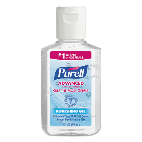 PURELL 9605-24 Advanced Instant Hand Sanitizer, 2oz, Squeeze Bottle, 24/carton image number 0