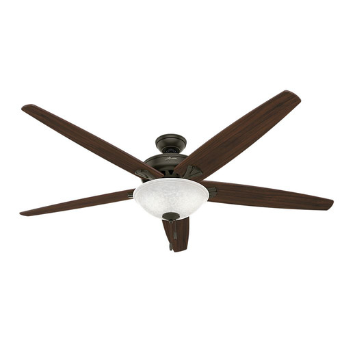 Hunter 55042 Stockbridge 70 in. Traditional Bronze Walnut Indoor Ceiling Fan with 2 Lights