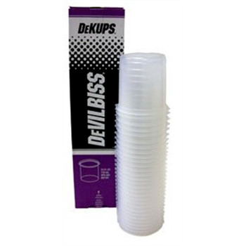 DeVilbiss 802101 32-Piece DeKups 24 oz. Disposable Cups and Lids Set