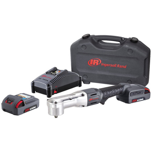 Ingersoll Rand W5330-K22 20V Cordless Lithium-Ion 3/8 in. Right Angle Impact Wrench with 2 Batteries