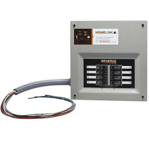Generac 6852 30 Amp Indoor Transfer Switch Kit for 6-8 Circ Stand-Alone, Upgradeable