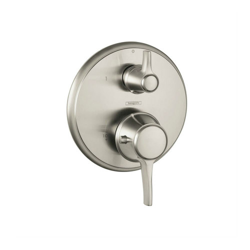 Hansgrohe 15753821 C Thermostatic Trim with Volume Control & Diverter (Brushed Nickel)