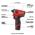 Milwaukee 2593-22 M12 FUEL Brushless Lithium-Ion 1/4 in. Cordless  Hex Impact Driver / HACKZALL One-Handed Reciprocating Saw Combo Kit (2 Ah/ 4 Ah) image number 15