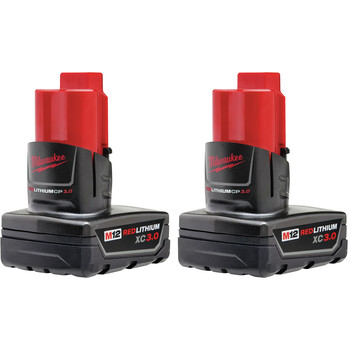 Milwaukee 48-11-2412 M12 REDLITHIUM XC 3 Ah Lithium-Ion Battery (2-Pack)