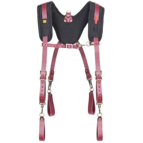 CLC 21522 Fully-Adjustable Padded Yoke Leather Suspenders image number 0