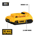 Dewalt DCB203 20V MAX 2 Ah Lithium-Ion Compact Battery image number 1