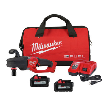 Milwaukee 2808-22 M18 FUEL HOLE HAWG Brushless Lithium-Ion Cordless Right Angle Drill with 7/16 in. QUIK-LOK Kit (6 Ah)