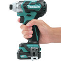 Factory Reconditioned Makita DT04R1-R CXT 12V Cordless Lithium-Ion 1/4 in. Brushless Impact Driver Kit with (2) 2 Ah Batteries image number 7