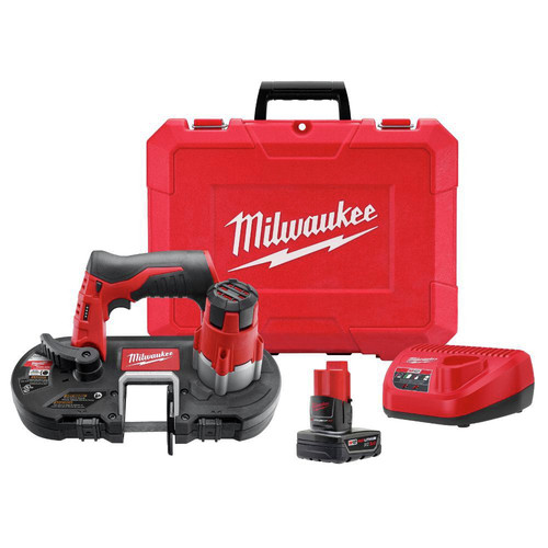 Milwaukee 2429-21XC M12 12V Cordless Lithium-Ion Sub-Compact Band Saw Kit with XC Battery image number 0