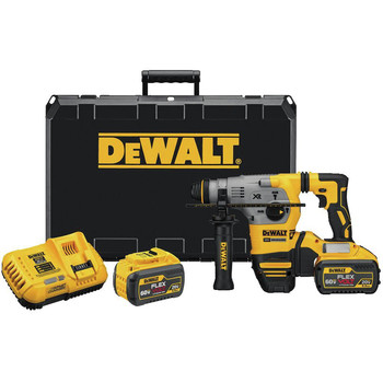 Dewalt DCH293X2 20V MAX XR Brushless 1-1/8 in. L-Shape SDS Plus Rotary Hammer Kit with 9.0ah