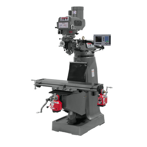 JET JTM-4VS-1 115/230V Variable Speed Milling Machine with 3-Axis ACU-RITE VUE DRO (Quill) and X/Y-Axis Powerfeeds image number 0