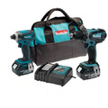 Factory Reconditioned Makita XT260-R LXT 18V Lithium-Ion Drill-Driver and Impact Driver Combo Kit image number 0