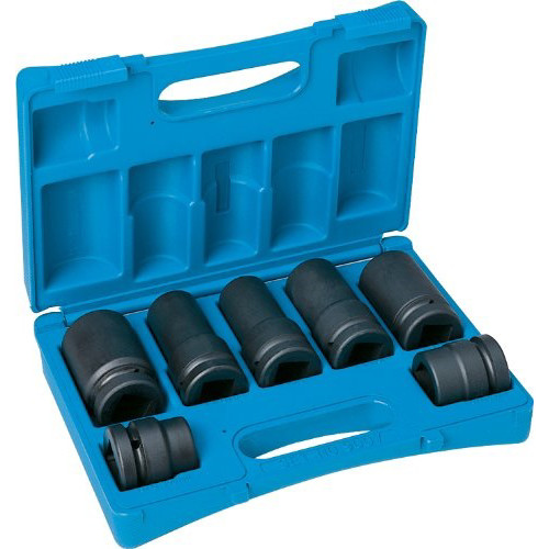 Grey Pneumatic 9007 7-Piece 1 in. Drive 6-Point SAE/Metric Standard/Deep Impact Socket Set