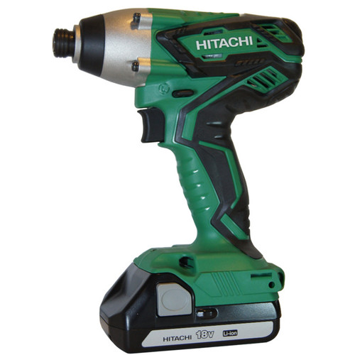 Hitachi WH18DGL 18V 1.3 Ah Cordless Lithium-Ion 1/4 in. Hex Impact Driver Kit