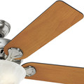 Hunter 53249 52 in. Pro's Best Five Minute Fan Brushed Nickel Ceiling Fan with Light image number 4
