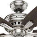 Hunter 53318 52 in. Newsome Brushed Nickel Ceiling Fan with Light image number 9
