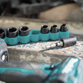 Makita E-01672 10-Piece Impact XPS 6-Point SAE 3/8 in. Drive Impact Socket Set with Standard Socket Adapter image number 4